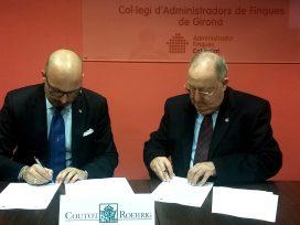 El Colegio de Administradores de Fincas de Girona firma un acuerdo con Coutot-Roehrig