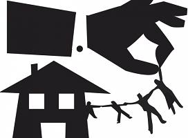 Los lanzamientos por impago del alquiler siguen aumentando, pero disminuyen los de ejecuciones hipotecarias